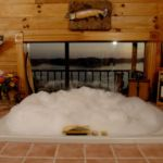 couples cabin bath