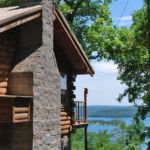 Couples cabin lake view