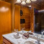 Family cabin master bath